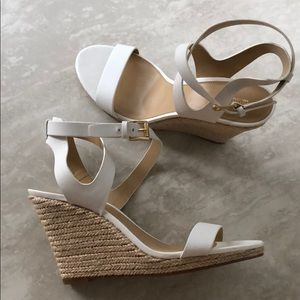 NWOT Michael Kors White Wedges